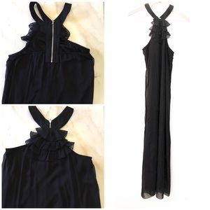 Fire Los Angeles Maxi Dress ruffles sleeveless M